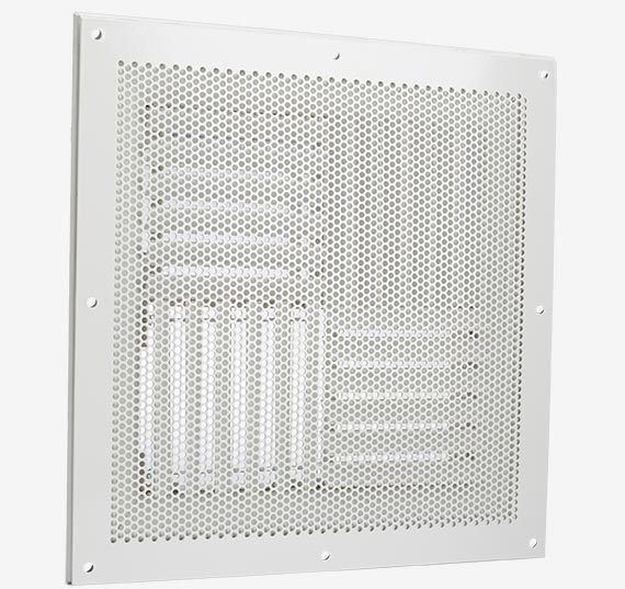Perforated diffuser for use in hospital isolation rooms